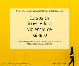 Formación continua en materia de igualdade e violencia de xénero